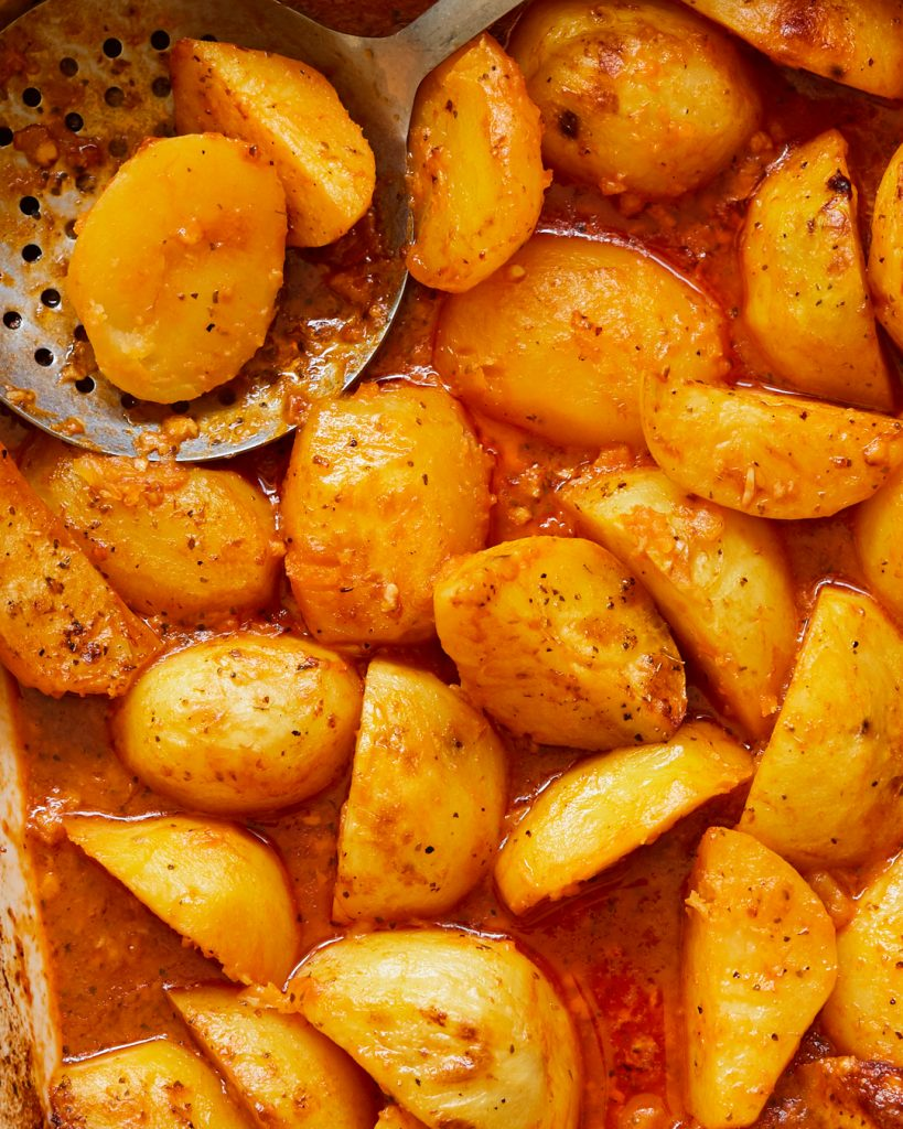 Whole30 Roasted Greek Potatoes Primal Gourmet Easy Side Dish Recipe