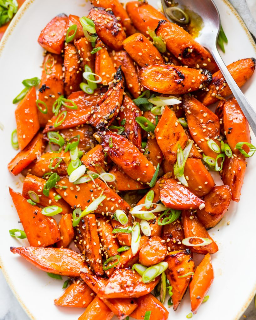 Maple Sesame Roast Carrots Paleo Primal Gourmet Whole30 Recipe Easy