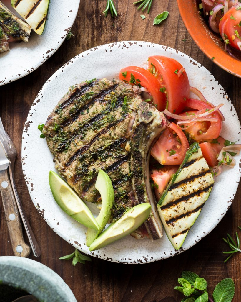 Herbed Veal Chop Whole30 Paleo Primal Gourmet Grilled Steak Easy Recipe