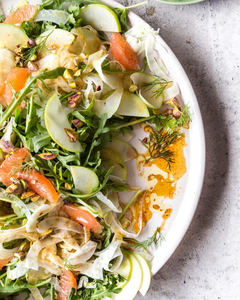 Fennel Arugula Grapefruit Salad Whole30 Paleo Primal Gourmet Easy Mother's Day Recipe