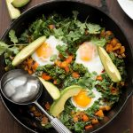 Whole30 Sweet Potato, Pepper and Kale Hash Primal Gourmet Paleo Easy Breakfast Recipe