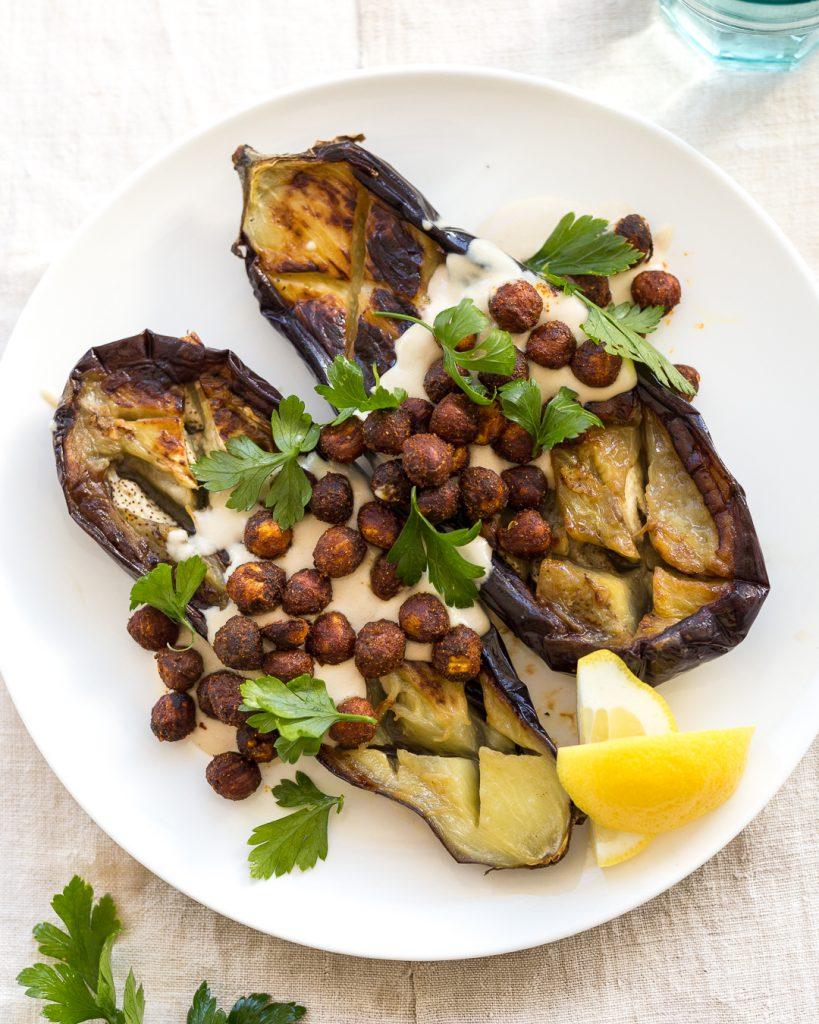 Pan Roasted Eggplant Hazelnuts Tahini Paleo Whole30 Primal Gourmet Easy Recipe