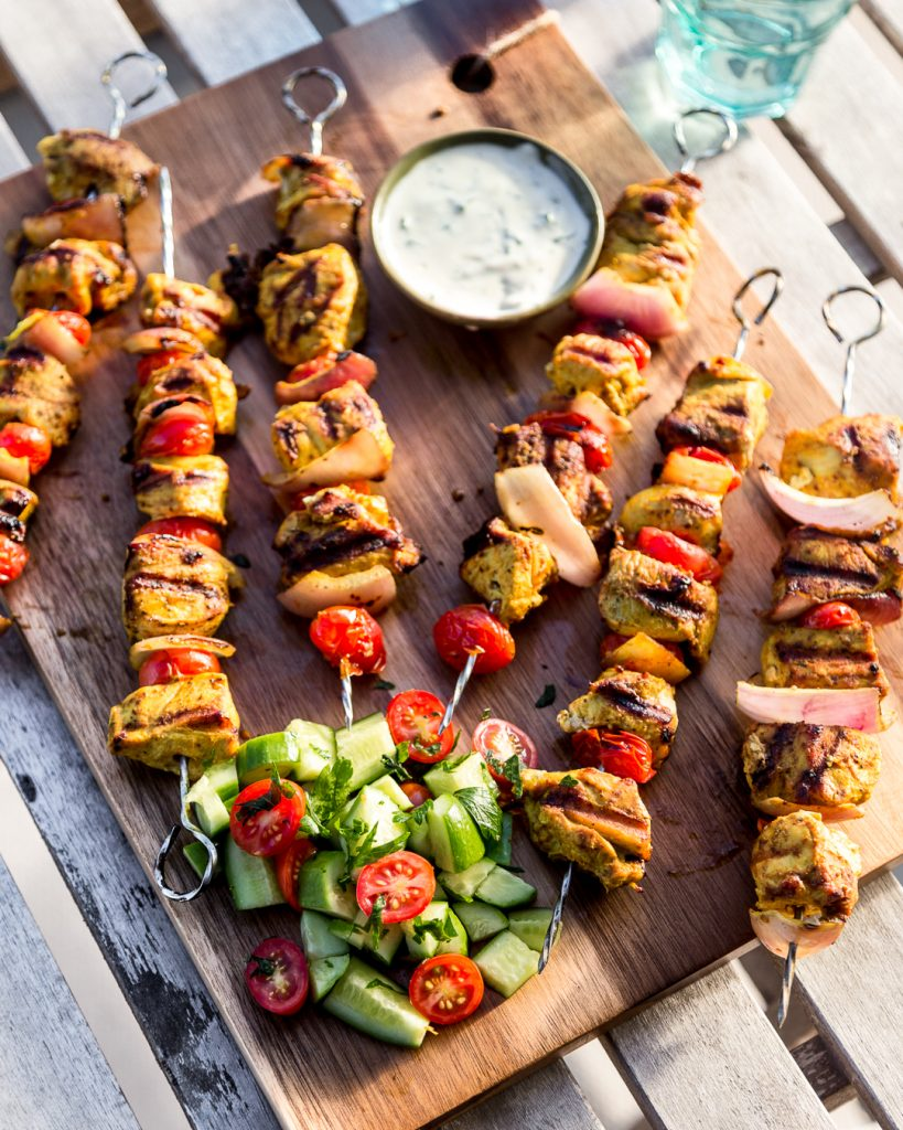 Whole30 Spiced Chicken Skewers Paleo Primal Gourmet Easy Grilled Recipe Summer