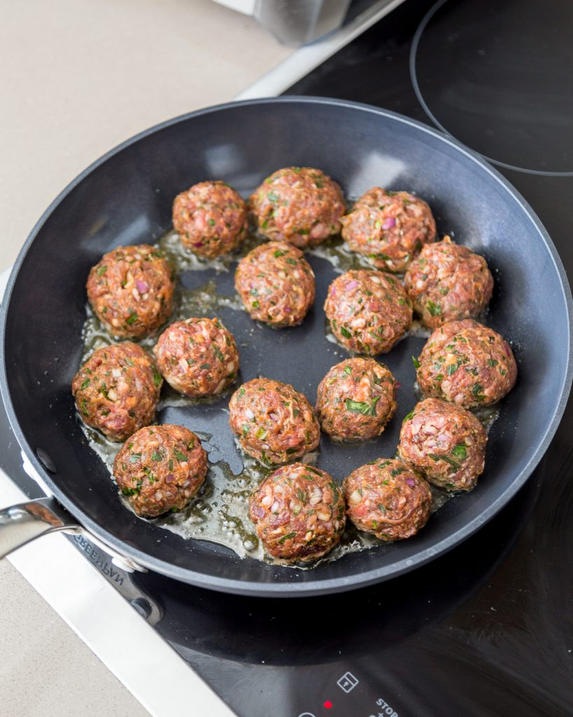 Spanish Meatballs with Cherry Tomato Sauce Paleo Whole30 Primal Gourmet Easy Summer Recipe