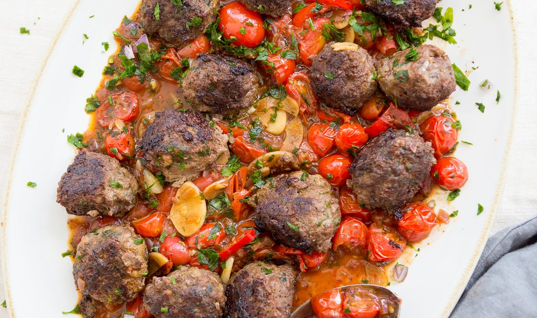 Spanish Meatballs with Cherry Tomato Sauce – Whole30