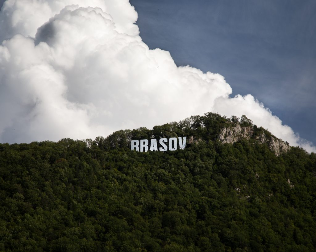 Brasov City Sign Atop Mount Tampa