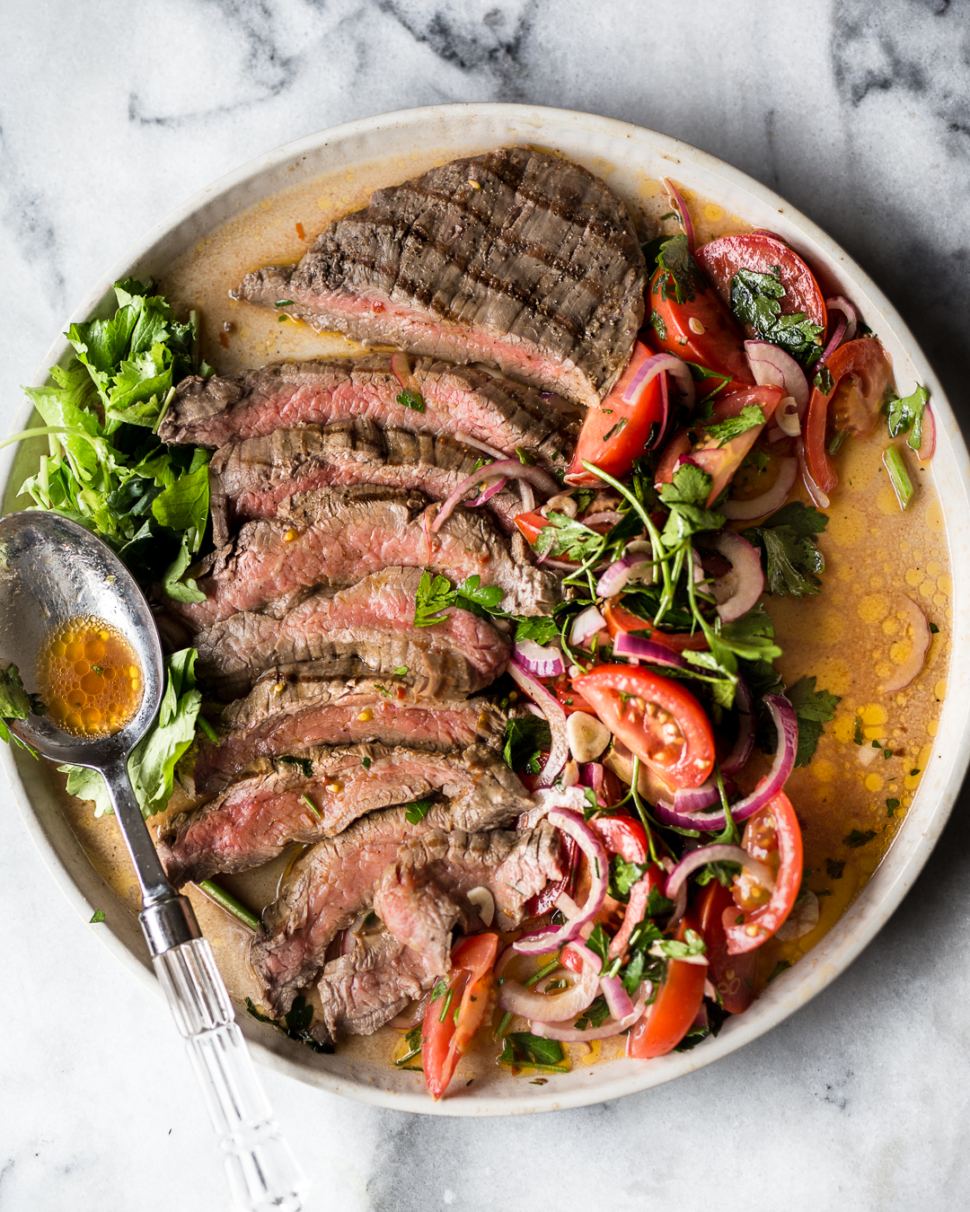 Grilled Flank Steak with Salsa Rustica