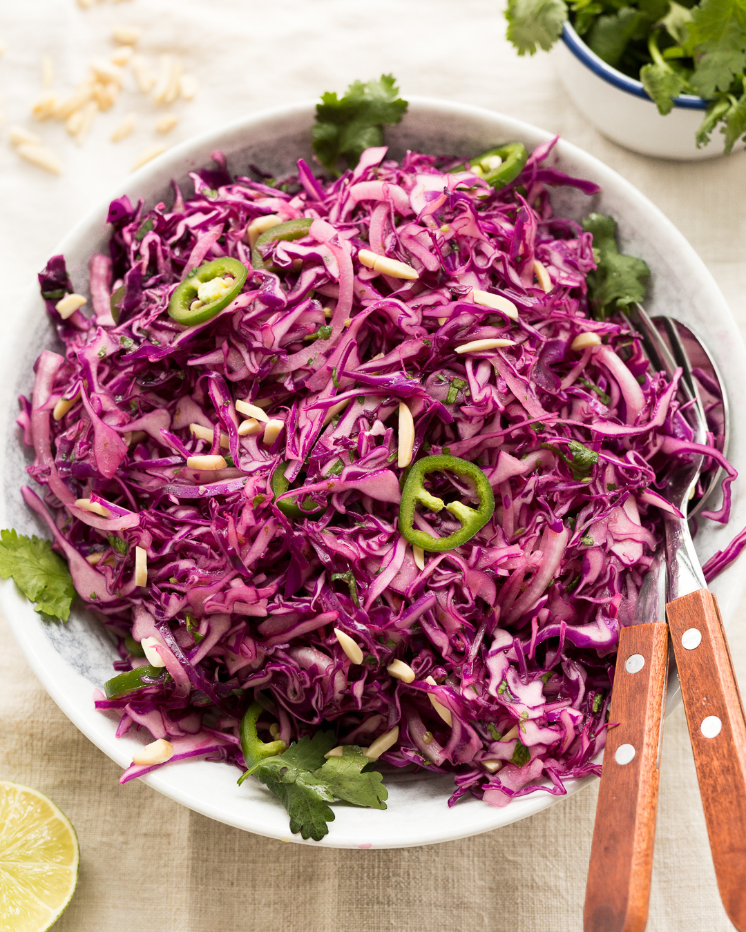 Whole30 Zesty Purple Cabbage Slaw Paleo Primal Gourmet Easy Recipe