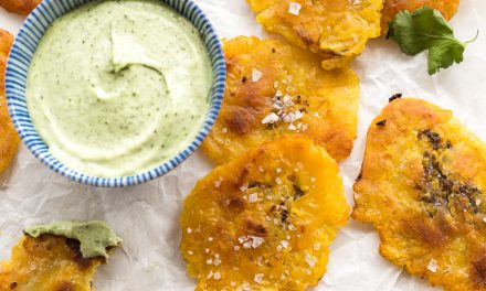 Tostones with Avocado Crema – Whole30, Paleo
