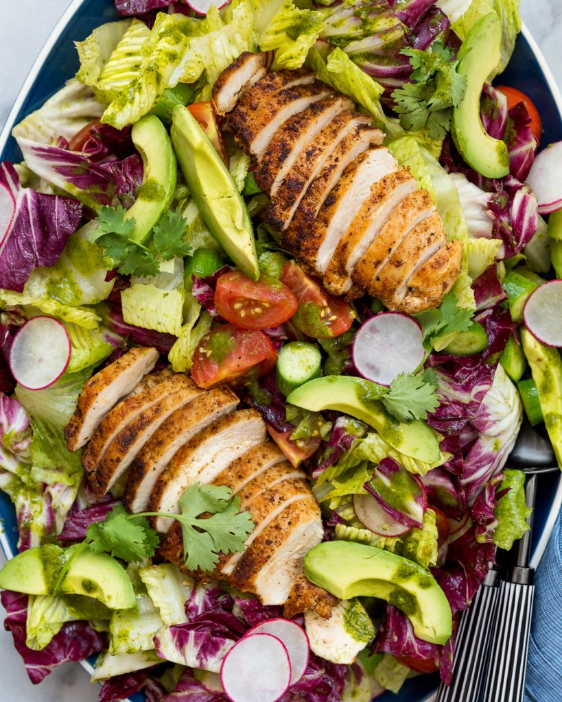 Whole30 Summer Chicken Salad with Cilantro Vinaigrette Paleo Primal Gourmet Easy Recipe
