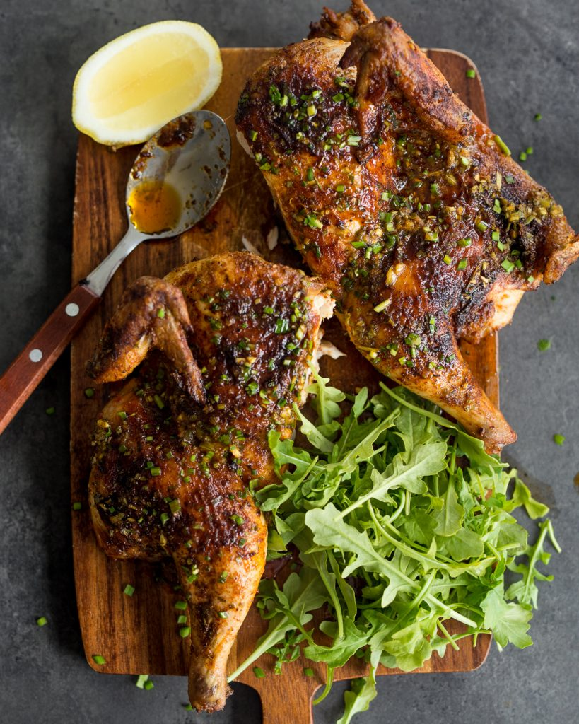 Whole30 Cajun Roast Chicken Lemon Chive Butter Paleo Primal Gourmet Easy Recipe