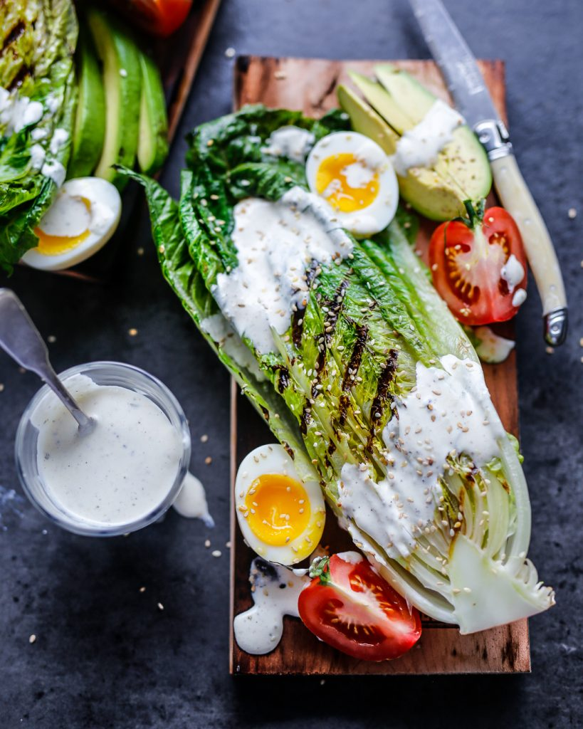 Whole30 Grilled Romaine Ranch Salad Paleo Primal Easy BBQ Recipe