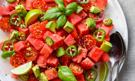 Watermelon, Tomato and Jalapeño Salad
