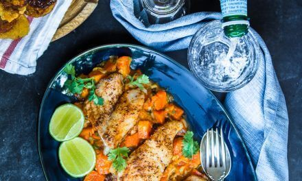 Paleo Blackened Snapper, Papaya-Pimento Relish