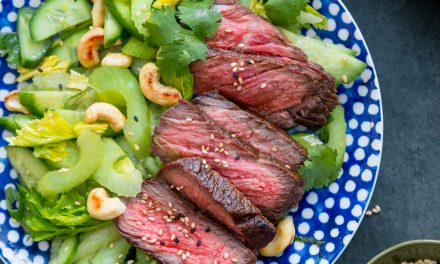 Grilled Short Ribs with Celery Salad – Whole30, Paleo