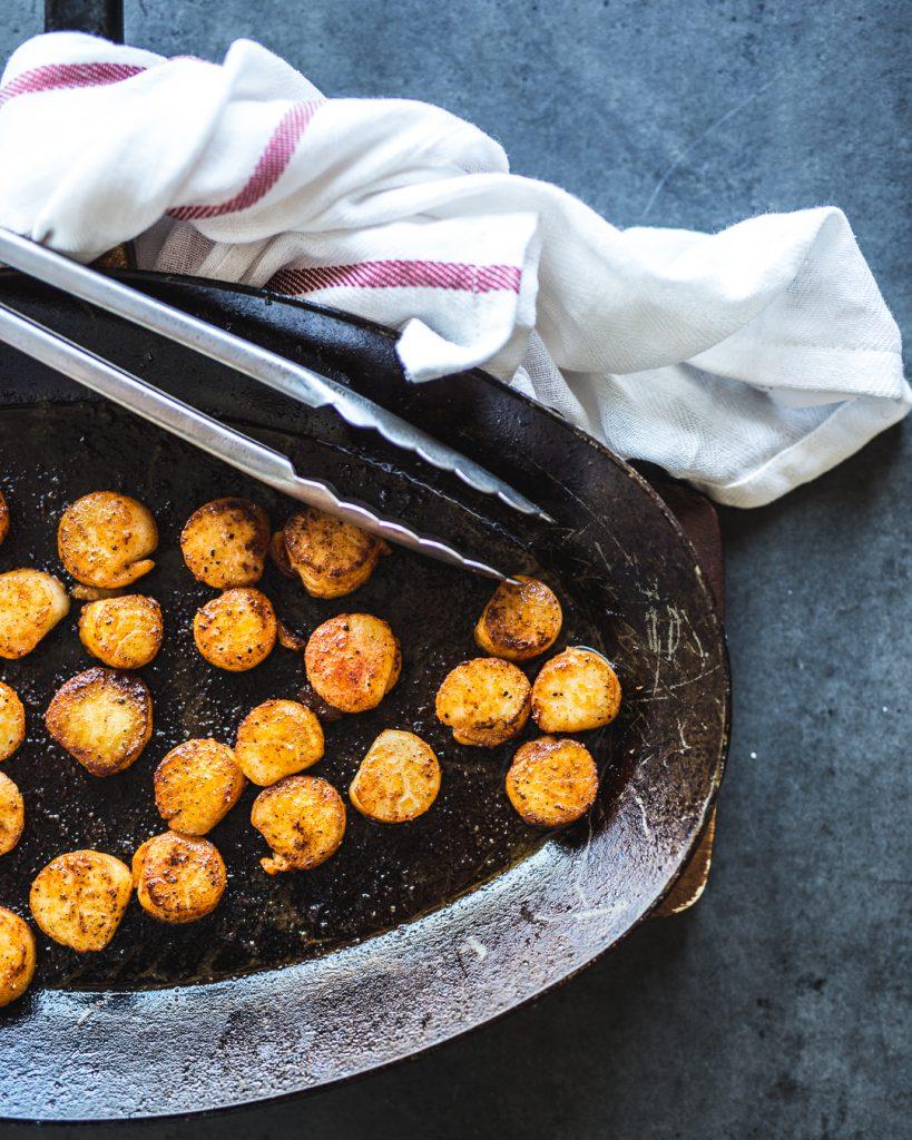 Seared Scallops with Cauliflower Puree Paleo Primal Gourmet Whole30 Easy Recipe