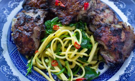Lemongrass Chicken with Mango-Cucumber Salad