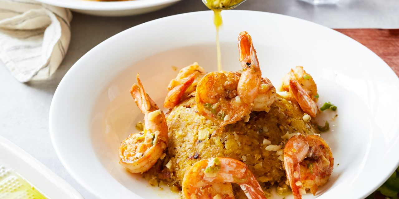 Mofongo with Mojo Shrimp – Whole30, Paleo