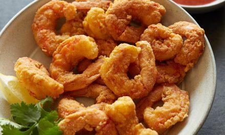 Popcorn Shrimp with Cocktail Sauce – Paleo