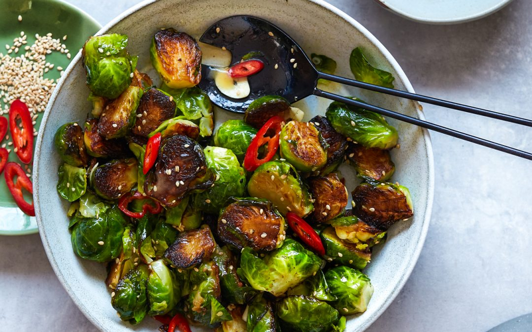 Sesame Garlic Brussels Sprouts – Paleo