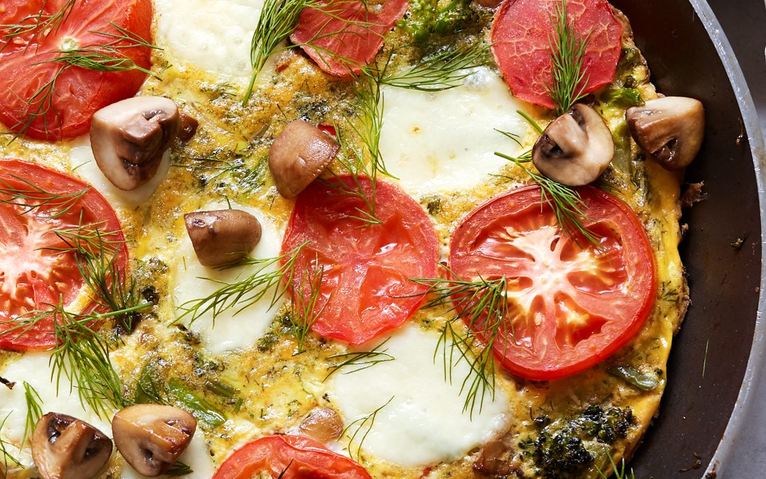 Veggie Frittata with Roasted Garlic Aioli