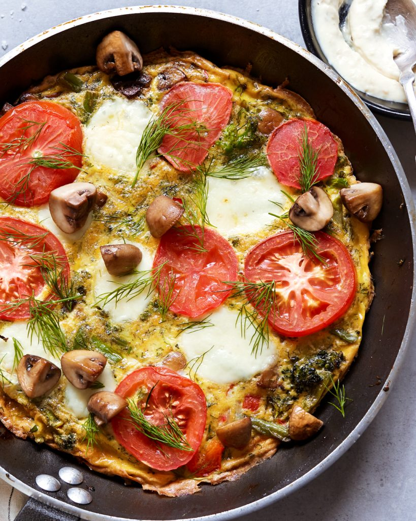 Veggie Frittata with Roasted Garlic Aioli Paleo Primal Gourmet Whole30 Easy No Waste Recipe