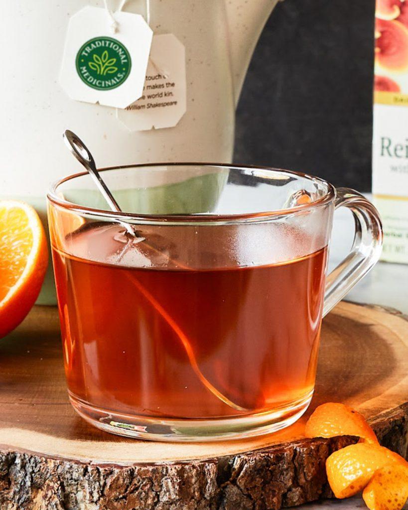 Reishi Mushroom Tea with Rooibos and Orange Peel
