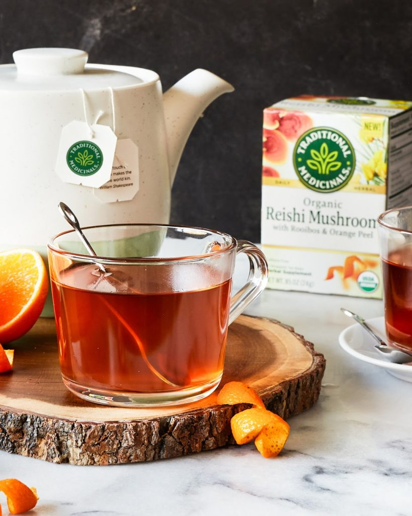 Traditional Medicinals Reishi Mushroom Tea with Rooibos and Orange Peel